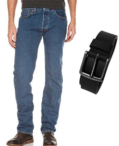 Stonewash Original Levi's 501 Straight 0114 00501 Uomo Jeans Fit nxvgB