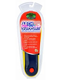 Moneysworth and Best Men's Everyday Arch Support memory foam Insole, Black, Cut to size