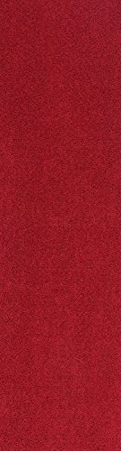 (Home Queen Solid Red Color Custom Size Runner 3' x 12' - Area Rug)