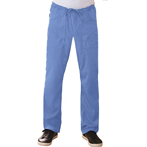 KOI Lite Men's Endurance Straight Leg Drawstring Scrub Pant Large Tall True Ceil (Koi Mens Tall Scrub)