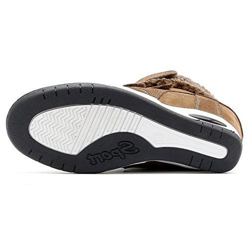 Sneakers Alte Con Zeppa U-mac Per Donna - Suola In Gomma Antiscivolo Con Tallone Nascosta E Scarpe Con Plateau Marrone Chiaro