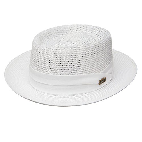 Dobbs Bishop Milan Straw Hat - White - 7 3/8