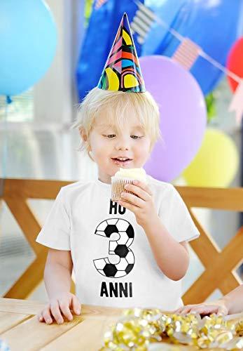 Maglietta Anni Palla X Da Ho Compleanno Festa Navy Shirtgeil Di Bambini 3 Calcio Regalo Per TxPHwfqU