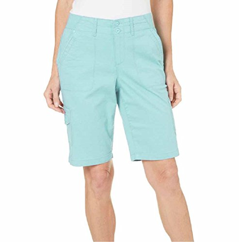 Gloria Vanderbilt Women's Marion Cargo Shorts (6, Aqua - Aurora Fashion Outlets