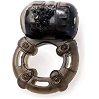 Vibrating Cock Ring for Men and Couples Sex Toy by Healthy Vibes | Soft & Stretchy Penis Ring Vibrator Black | Last Longer in Bed & Get Harder Erections