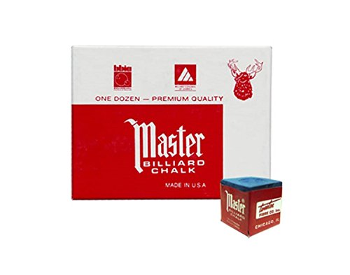 Masters Blue Billiard and Snooker Chalk - 2 dozen/24 (Master Billiard Pool Cue Chalk)