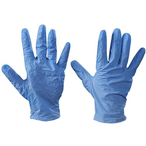 100 x Powder Free Disposable Vinyl Gloves (Blue) – Small