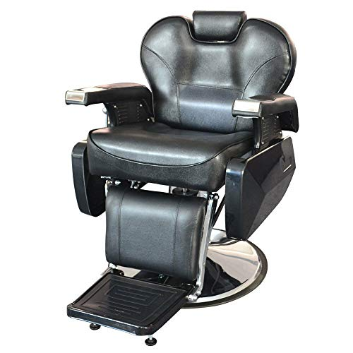 Heavy Duty Hydraulic Recline Barber Chair Salon Tattoo Beauty Chair Hair Cutting, Metal & Leather Black, Weight 728.43 oz, Load-bearing 150kg For Hair Stylist Tattoo Chair Heavy Duty Barber Salon - Equipment Salon Takara Belmont
