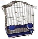 Maxine cromo grande jaula de pájaros para Budgie Canario 48x 36x 60con
