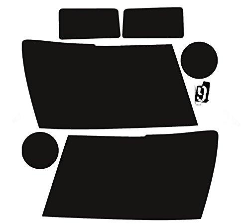 Subject 9 - Fits: Suburban/Tahoe/Avalanche Pre-cut Vinyl Overlay Tint Headlight PLUS (2007 2008 2009 2010 2011 2012 2013 2014) DARK 20%