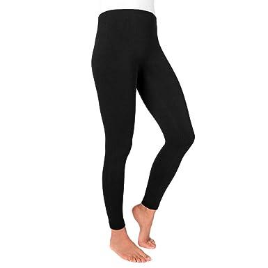 b66c0614351e03 MUK LUKS Women's Solid Fleece Leggings at Amazon Women's Clothing store: