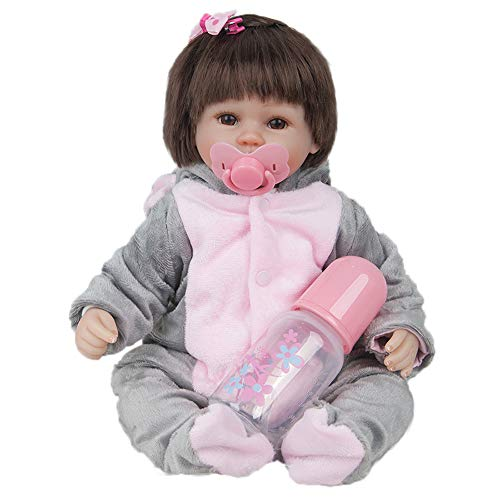 Birdfly Type:9302 Reborn Toddler Smile Baby Doll Sit Artificial Elephant Jumpsuit Girl Silicone Lifelike Toy for $<!--$68.00-->