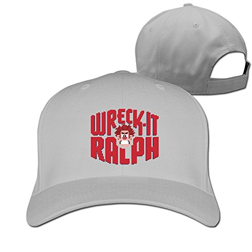 Unisex-Wreck-It-Ralph-Durable-100-Cotton-Adjustable-Sport-Cap