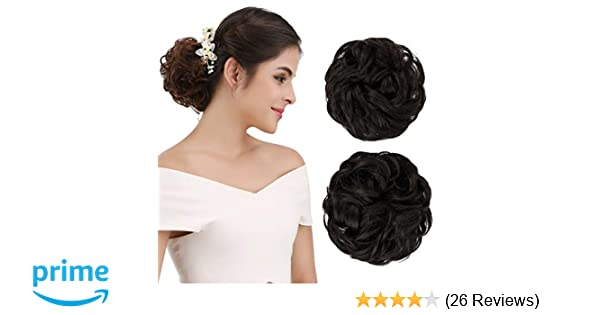 Amazon Reecho Womens Thick 2pcs Curly Wavy Updo Hair Bun