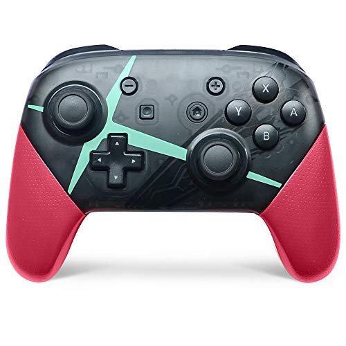 Switch pro Controller,Wireless Controller Compatible for Nintendo Switch Support Gyro Axis Dual Shock(Black & Pink)