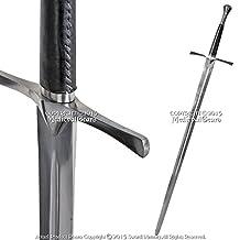 Medieval Gears Brand Handmade Functional Full Tang Medieval Knight Sword Peened Tang Spring Steel SCA