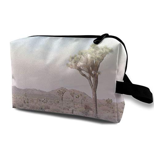 Mikonsu Joshua Tree Desert Cactus Landscape Makeup Bag Cosmetic Beauty Bag Travel Handy Organizer Pouch