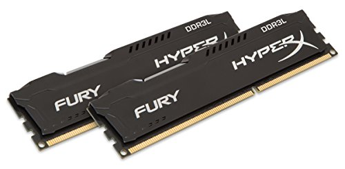 Sdram Dimm Desktop Memory (HyperX Kingston Technology FURY Black 16GB Kit (2 x 8GB) 1600MHz DDR3L Desktop Memory HX316LC10FBK2/16)