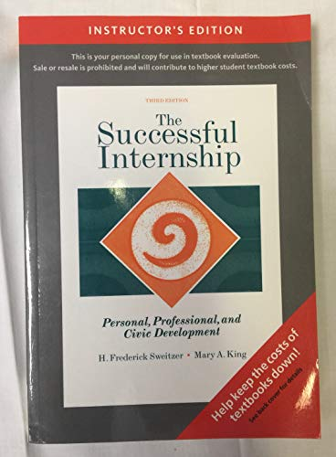 The Succesful Internship (Personal, Professional , and Civic Development)