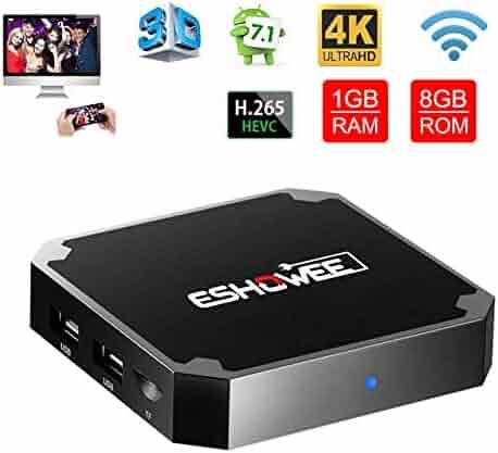 ESHOWEE X96 Mini Android 7.1 TV Box Amlogic S905W Quad-core 64 Bit DDR3 1GB 8GB 4K UHD WiFi & LAN VP9 DLNA H.265