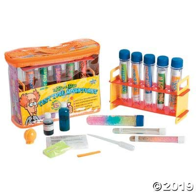 Fun Express Test Tube Adventures Lab-in-A-Bag - 1 Piece - Educational and Learning Activities for Kids: Toys & Games