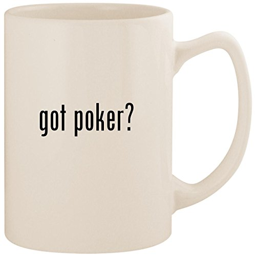 - got poker? - White 14oz Ceramic Statesman Coffee Mug Cup