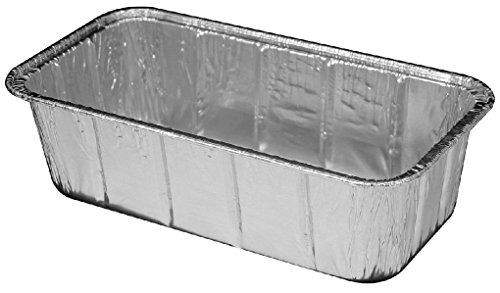 2 lb. Aluminum Foil Loaf Bread Pan - Heavy Duty Baking Tins # 316