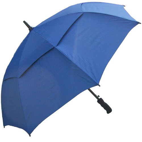 RainStoppers Auto Open Windbuster Sport Umbrella, Navy, -