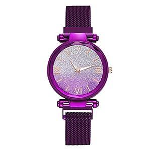 Bravetoshop Women's Watch Elegant Diamonds Shinning Dress Watches Analog Quartz Wristwatches Casual Fashion Ladies Bracelet Watch for Valentine's Day Gifts 918