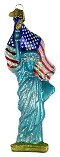 Old World Christmas Ornaments: Statue Of Liberty Glass Blown Ornaments for Christmas Tree ()