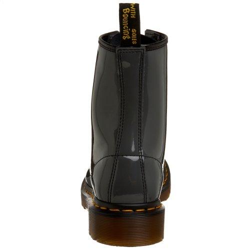 Dr. Martens Frauen 1460 Black Patent Lamper Stiefel Grauer Patent-Lamper