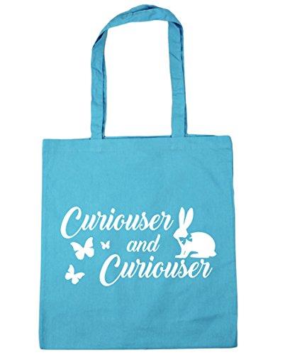 HippoWarehouse más curioso y más curioso Tote Compras Bolsa de playa 42cm x38cm, 10litros azul (Surf Blue)