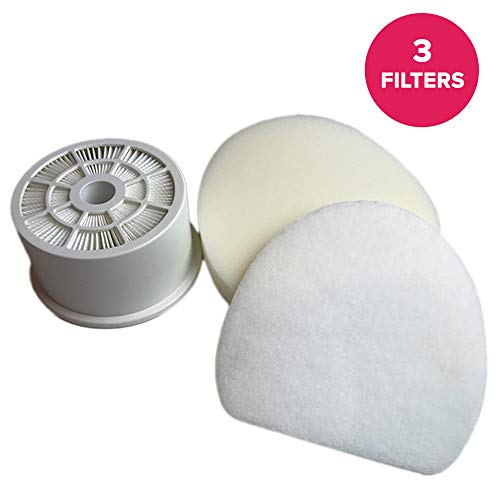 Think Crucial Replacement for Shark NV400 HEPA Style, Foam & Felt Filters Fit NV400, Compatible with Part # XFF400 & XHF400