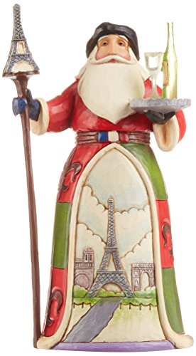 Jim Shore Heartwood Creek French Santa Stone Resin Figurine, - Shore Jim Santa