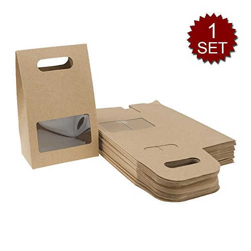 Aspire Set of 48 Stand Up Kraft Paper Boxes, 4