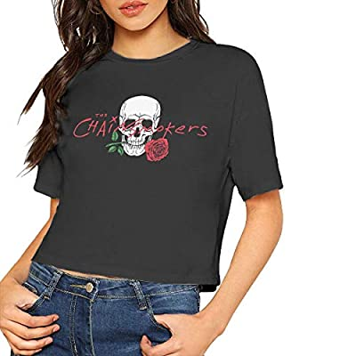 The Chainsmokers Crop Top Tshirt Womens Blouse Dew Navel Tshirt Round Neck Short Sleeve Slub Cotton Top