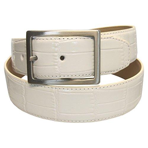 PGA Tour Men's Genuine Leather Croc Pattern Belt, 38