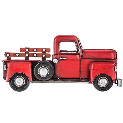 (Red Half Truck Metal Wall Decor)