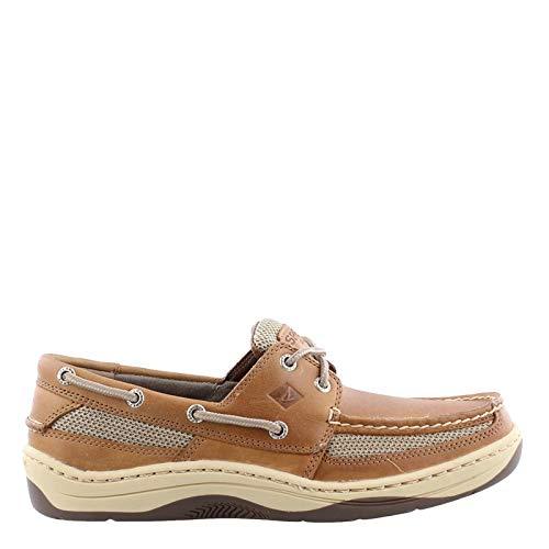 SPERRY Top-Sider Men's Tarpon 2-Eye Boat Shoe Dark Tan, 12
