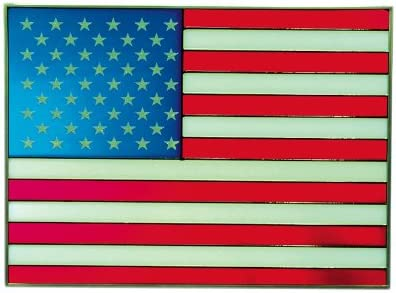 American Flag, 14 x 10.25 Horizontal Stained Glass Panel