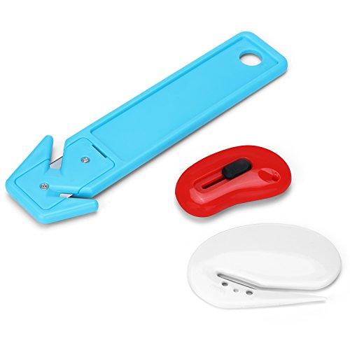 Letter Opener Envelope Slitter Package Opener Box Knife (3 Packs Kit)