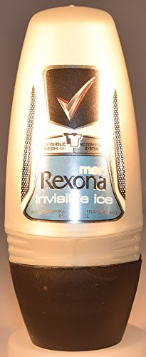 Price comparison product image Rexona Body Roll on Deodorant for Men, Anti-Perspirant/Anit-Transpirant (6X50ml/1.7oz, Invisible Ice)