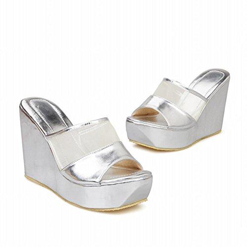Pictures of Latasa Women's Platform Wedges Slide Sandals 8 M US 6