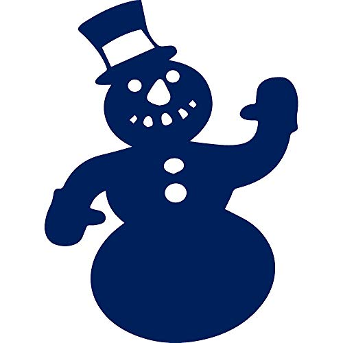 ANGDEST Snowman Stencil Art (Navy Blue) (Set of 2) Premium Waterproof Vinyl Decal Stickers for Laptop Phone Accessory Helmet Car Window Bumper Mug Tuber Cup Door Wall Decoration