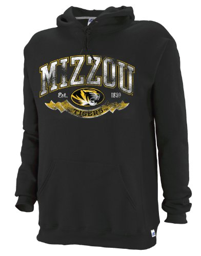 NCAA Missouri Tigers Dri-Power Fleece Crew, Black, Medium