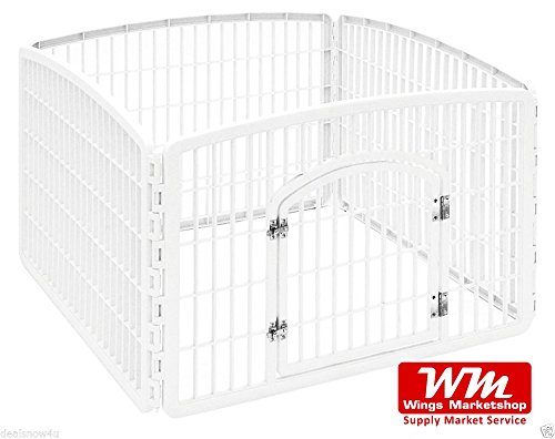 wingsmarketshop-4-panel-containment-pet-pen-dog-puppy-plastic-playpen-kennel-exercise-cage-indoor-ou
