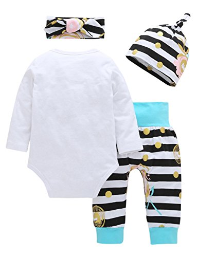 Gprince Baby Boy Girl Clothing Rompers Newborn Onesie Coats Pants Headband Stripe 60cm (Toddler One Dress Piece Cheerleader)
