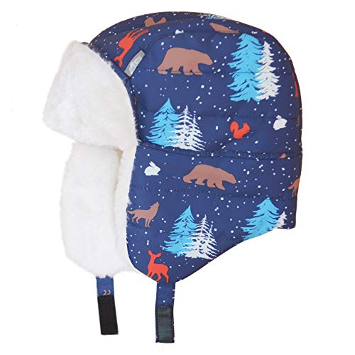 Toddler Baby Windproof Bomber Winter Hat (M: 1-3Y, Woodland) ()