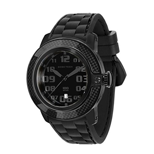 Glam Rock Men's GR33003 SoBe Black Dial Black Silicon Watch