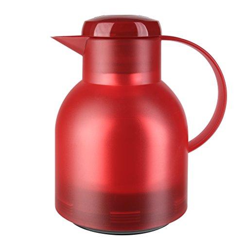 Emsa Samba Quick Press Insulated Server, 34-Ounce, Translucent Red (Red Carafe)